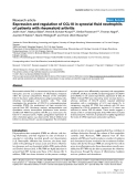 "Báo cáo y học: ""Expression and regulation of CCL18 in synovial fluid neutrophils of patients with rheumatoid arthritis"""