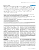 "Báo cáo y học: ""Differential responsiveness to immunoablative therapy in refractory rheumatoid arthritis is associated with level and avidity of anti-cyclic citrullinated protein autoantibodies: a case study"""