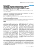 """Báo cáo y học: """"Activation of proteinase-activated receptor 2 in human osteoarthritic cartilage upregulates catabolic and proinflammatory pathways capable of inducing cartilage degradation: a basic science study"""""""