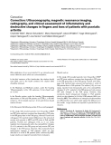 "Báo cáo y học: ""Correction: Ultrasonography, magnetic resonance imaging, radiography, and clinical assessment of inflammatory and destructive changes in fingers and toes of patients with psoriatic arthritis"""
