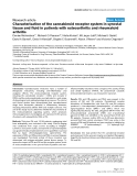 "Báo cáo y học: ""Characterisation of the cannabinoid receptor system in synovial tissue and fluid in patients with osteoarthritis and rheumatoid arthritis"""