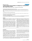 "Báo cáo y học: ""A meta-analysis of the incidence of malignancy in adult patients with rheumatoid arthritis"""