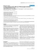 "Báo cáo y học: ""A meta-analysis of the efficacy of fibromyalgia treatment according to level of care"""