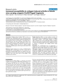 """Báo cáo y học: """" Increased susceptibility to collagen-induced arthritis in female mice carrying congenic Cia40/Pregq2 fragments"""""""