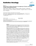 """Báo cáo khoa học: """" Whole brain radiation therapy in management of brain metastasis: results and prognostic factors"""""""