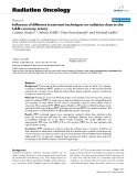 """Báo cáo khoa học: """" Influence of different treatment techniques on radiation dose to the LAD coronary artery"""""""