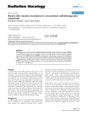 """Báo cáo khoa học: """"Severe skin reaction secondary to concomitant radiotherapy plus cetuximab"""""""