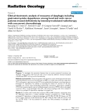 """Báo cáo khoa học: """"  Clinical-dosimetric analysis of measures of dysphagia including gastrostomy-tube dependence among head and neck cancer patients treated definitively by intensity-modulated radiotherapy with concurrent chemotherapy"""""""