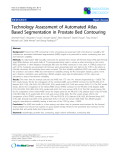 """Báo cáo khoa học: """"Technology Assessment of Automated Atlas Based Segmentation in Prostate Bed Contouring"""""""