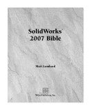 SolidWorks 2007  bible phần 1