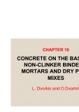 BASICS OF CONCRETE SCIENCE - CHAPTER 10