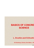 BASICS OF CONCRETE SCIENCE - CHAPTER 0