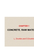 BASICS OF CONCRETE SCIENCE - CHAPTER 1