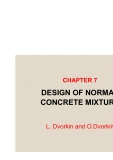 BASICS OF CONCRETE SCIENCE - CHAPTER 7