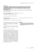 "Báo cáo y học: ""Correction: Initial clinical trial of epratuzumab (humanized anti-CD22 antibody) for immunotherapy of systemic lupus erythematosus"""