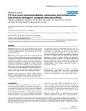 """Báo cáo y học: """"T-614, a novel immunomodulator, attenuates joint inflammation and articular damage in collagen-induced arthritis"""""""