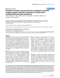 """Báo cáo y học: """"Retinoid X receptor and peroxisome proliferator-activated receptor-gamma agonists cooperate to inhibit matrix metalloproteinase gene expression"""""""