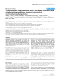 """Báo cáo y học: """"Vastus medialis cross-sectional area is positively associated with patella cartilage and bone volumes in a pain-free community-based population"""""""
