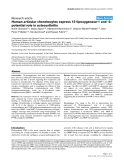 "Báo cáo y học: ""Human articular chondrocytes express 15-lipoxygenase-1 and -2: potential role in osteoarthritis"""