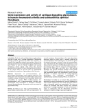 "Báo cáo y học: ""Gene expression and activity of cartilage degrading glycosidases in human rheumatoid arthritis and osteoarthritis synovial fibroblast"""