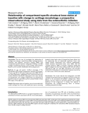 """Báo cáo y học: """" Relationship of compartment-specific structural knee status at baseline with change in cartilage morphology: a prospective observational study using data from the osteoarthritis initiative"""""""