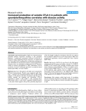 "Báo cáo y học: ""Increased production of soluble CTLA-4 in patients with spondylarthropathies correlates with disease activity"""