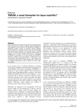 "Báo cáo y học: ""TWEAK: a novel biomarker for lupus nephritis"""