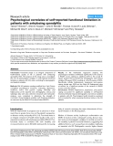 "Báo cáo y học: ""Psychological correlates of self-reported functional limitation in patients with ankylosing spondylitis"""