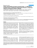 "Báo cáo y học: ""Active immunization to tumor necrosis factor-α is effective in treating chronic established inflammatory disease: a long-term study in a transgenic model of arthritis"""