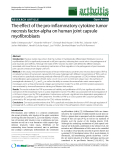 """Báo cáo y học: """" The effect of the pro-inflammatory cytokine tumor necrosis factor-alpha on human joint capsule myofibroblasts"""""""