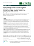 "Báo cáo y học: ""Mitochondrial dysfunction and mitophagy activation in blood mononuclear cells of fibromyalgia patients: implications in the pathoge""nesis of the disease"