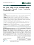 """Báo cáo y học: """"The loss of health status in rheumatoid arthritis and the effect of biologic therapy: a longitudinal observational study"""""""