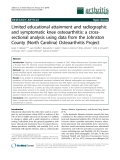 "Báo cáo y học: "" Limited educational attainment and radiographic and symptomatic knee osteoarthritis: a crosssectional analysis using data from the Johnston County (North Carolina) Osteoarthritis Project"""
