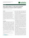 """Báo cáo y học: """"New role for Agrin in T cells and its potential importance in immune system regulation"""""""