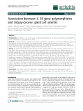 """Báo cáo y học: """"Association between IL-18 gene polymorphisms and biopsy-proven giant cell arteritis"""""""