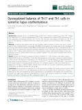 """Báo cáo y học: """" Dysregulated balance of Th17 and Th1 cells in systemic lupus erythematosus"""""""