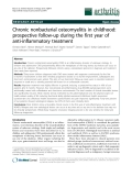 "Báo cáo y học: ""Chronic nonbacterial osteomyelitis in childhood: prospective follow-up during the first year of anti-inflammatory treatment"""