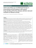 """Báo cáo y học: """"Seven-year follow-up of infliximab therapy in rheumatoid arthritis patients with severe long-standing refractory disease: attrition rate and evolution of disease activity"""""""