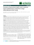 "Báo cáo y học: ""Provision of preventive health care in systemic lupus erythematosus: data from a large observational cohort study"""