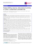 "Báo cáo y học: "" Nordic Walking improves daily physical activities in COPD: a randomised controlled trial"""