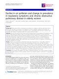 "Báo cáo y học: "" Decline in air pollution and change in prevalence in respiratory symptoms and chronic obstructive pulmonary disease in elderly women"""