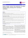 "Báo cáo y học: "" Helium-oxygen reduces the production of carbon dioxide during weaning from mechanical ventilation"""