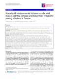 "Báo cáo y học: ""Household environmental tobacco smoke and risks of asthma, wheeze and bronchitic symptoms among children in Taiwan"""