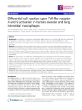 "Báo cáo y học: "" Differential cell reaction upon Toll-like receptor 4 and 9 activation in human alveolar and lung interstitial macrophages"""