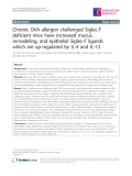 "Báo cáo y học: ""Chronic OVA allergen challenged Siglec-F deficient mice have increased mucus, remodeling, and epithelial """
