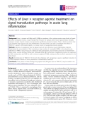 "Báo cáo y học: "" Effects of Liver × receptor agonist treatment on signal transduction pathways in acute lung inflammation"""