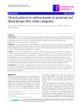 "Báo cáo y học: ""Clinical patterns in asthma based on proximal and distal airway nitric oxide categories"""