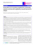 "Báo cáo y học: ""Association of circulating angiotensin converting enzyme activity with respiratory muscle function in infants"""