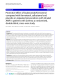 "Báo cáo y học: ""Protective effect of budesonide/formoterol compared with formoterol, salbutamol and placebo on repeated provocations with inhaled AMP in patients with asthma: a randomised, double-blind, cross-over study"""