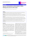 "Báo cáo y học: "" Sputum neutrophils as a biomarker in COPD: findings from the ECLIPSE study"""